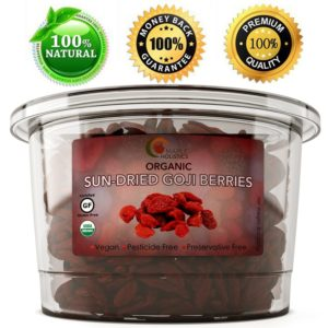 Maple Holistics Raw Organic Dried Goji Berries