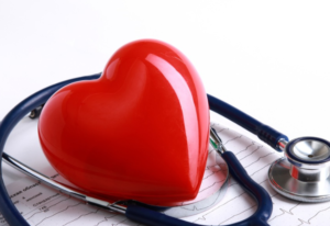 Heart And Stethoscope.