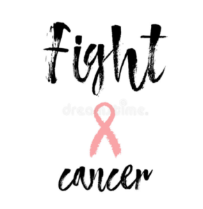 Fight Cancer Sign.