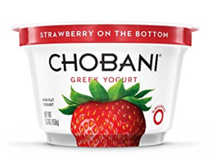 chobani on the bottom yogurt