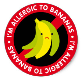 allergic to bananas