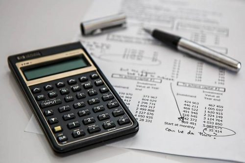 Calculator with an accounting certification exam