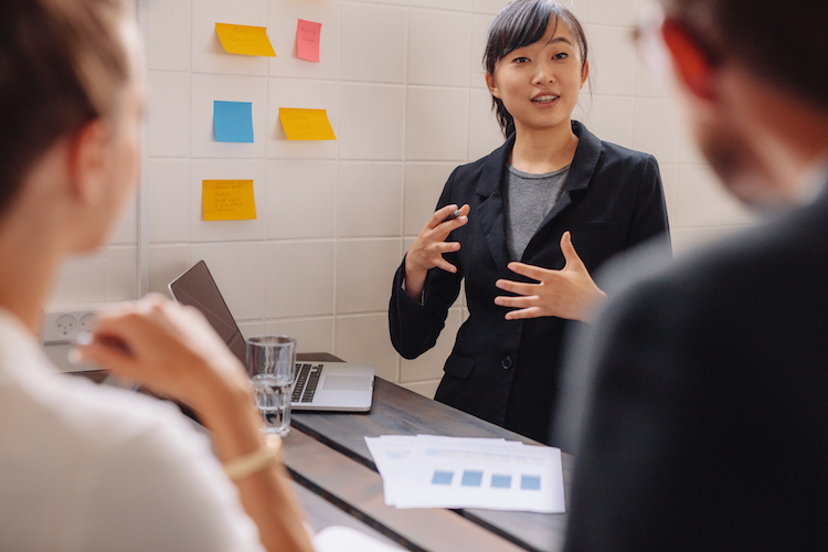 Female marketing professional in meeting