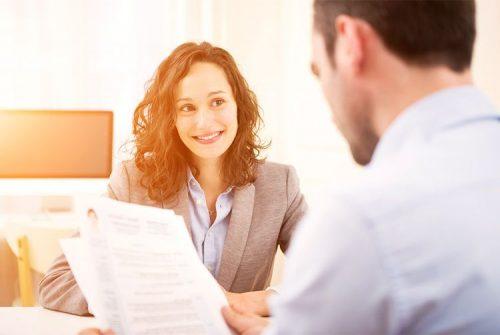 A candidate undergoes a job interview