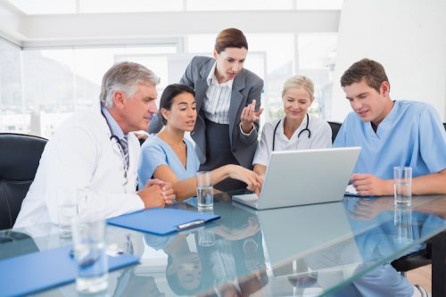 nursing meeting with hospital stakeholders