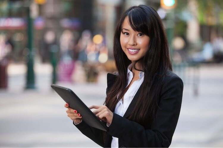 female accounting professional with tablet