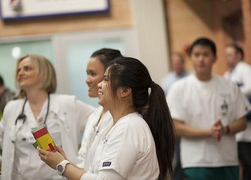 group of nursing students