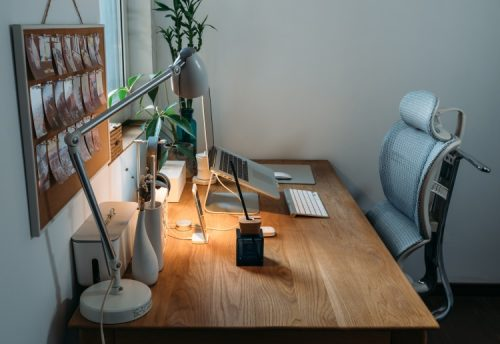 an ergonomic home office