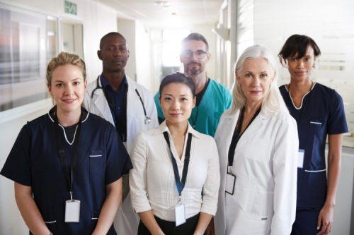A team of nurses at the hospital