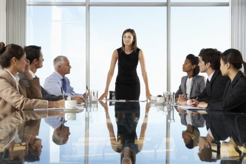 A manager demonstrates leadership ability
