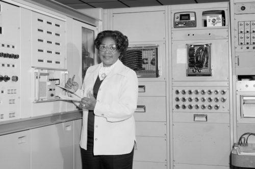 NASA scientist Mary Jackson at work.
