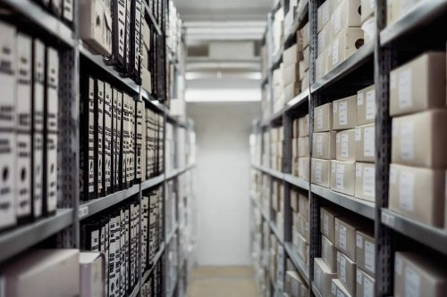 Archives file room