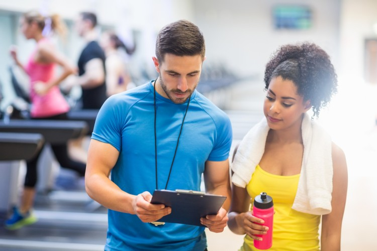 An exercise science professional shares a fitness plan with a client