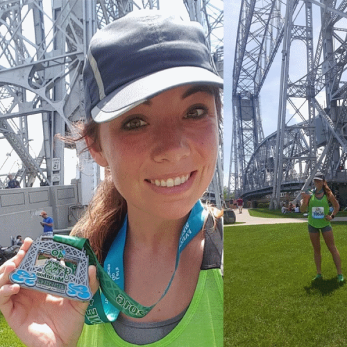 runner with medal after a race