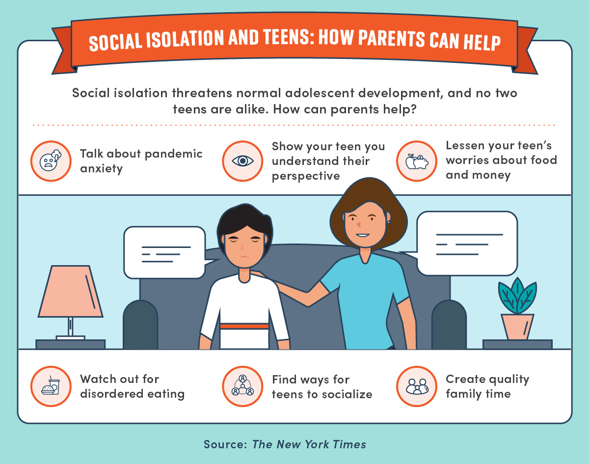 Tips for parents looking to help combat effects of social isolation in teens