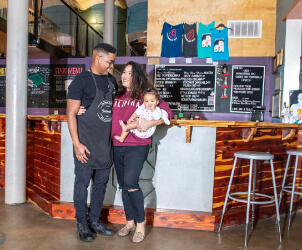 Charlene Lopez Young and Family of The Fattened Caf