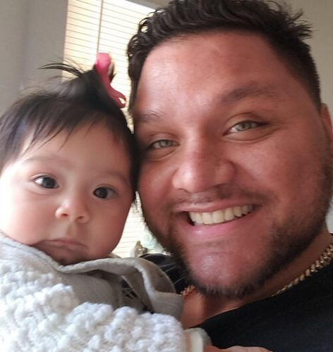 Jeremy Ramos and his daughter