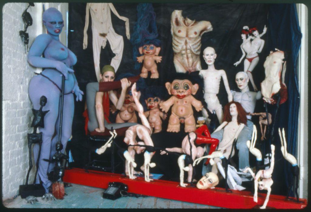 Lankton in her studio, 1982.