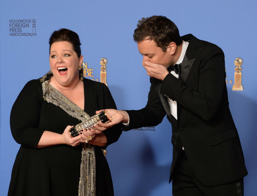 Melissa-McCarthy-Jimmy-Fallon-Were-Awe-His-Fake-Golden-Globe