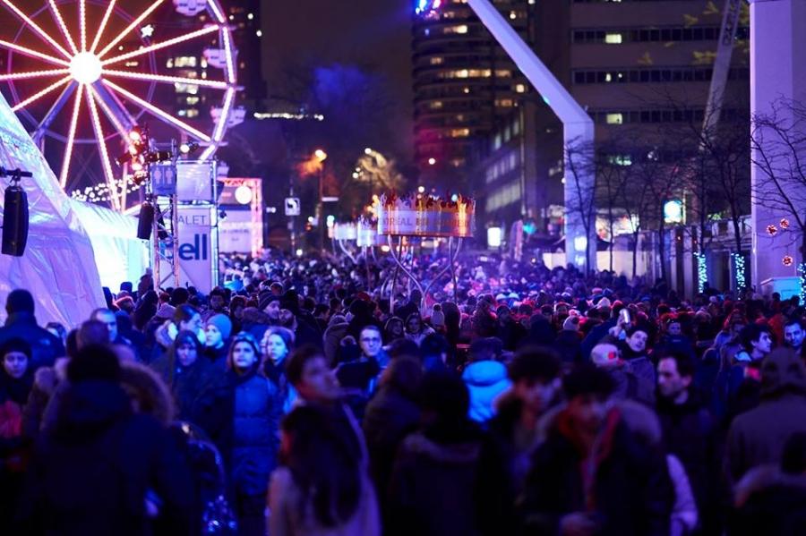Crédit photo: Page Facebook oficiel de Montréal en lumière