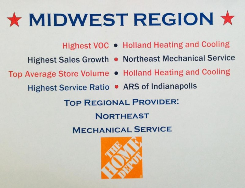 heating and cooling award home depot holland heating