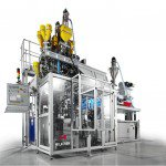 Uniloy blow molding UMS shuttle series machine