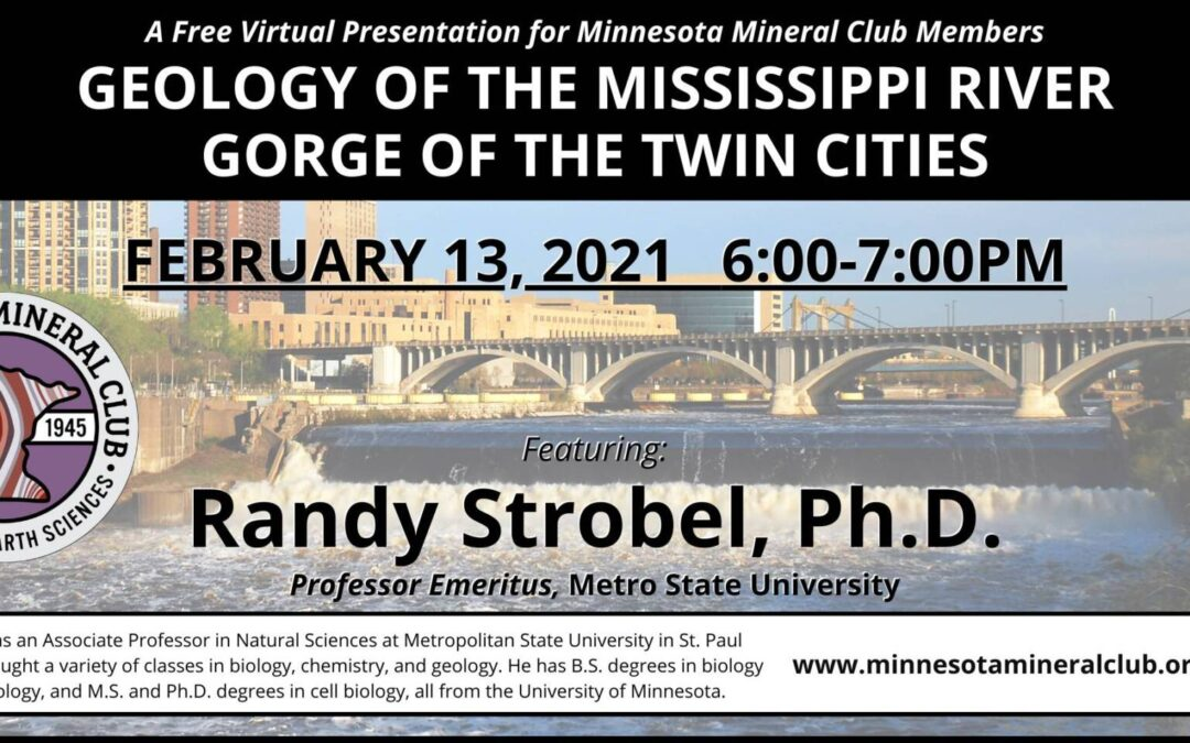 Geology of the Mississippi River Gorge of the Twin Cities with Randy Strobel