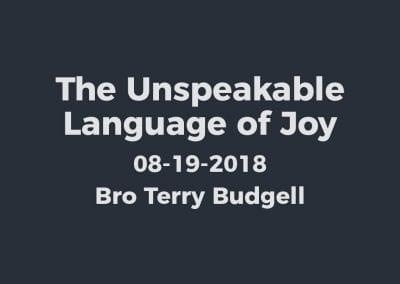 The Unspeakable Language of Joy