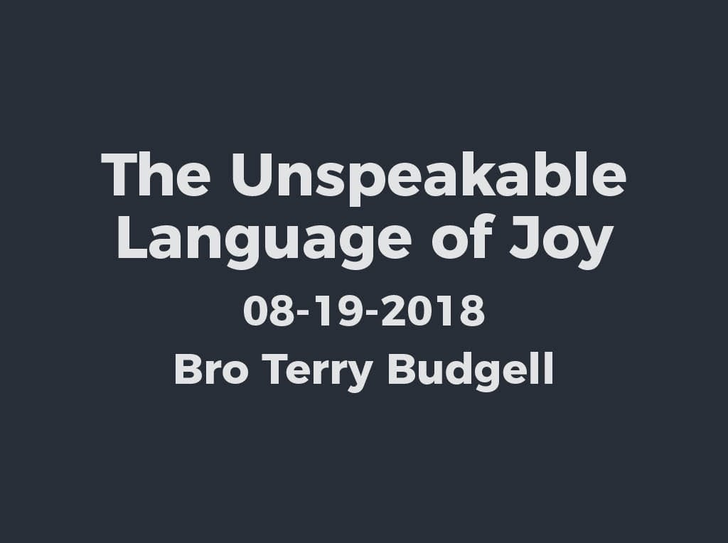 The Unspeakable Language of Joy