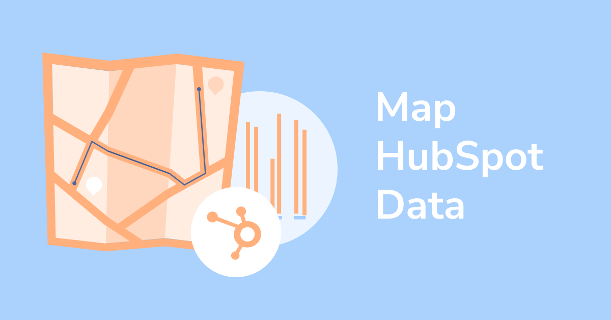 Picture of map and HubSpot symbol