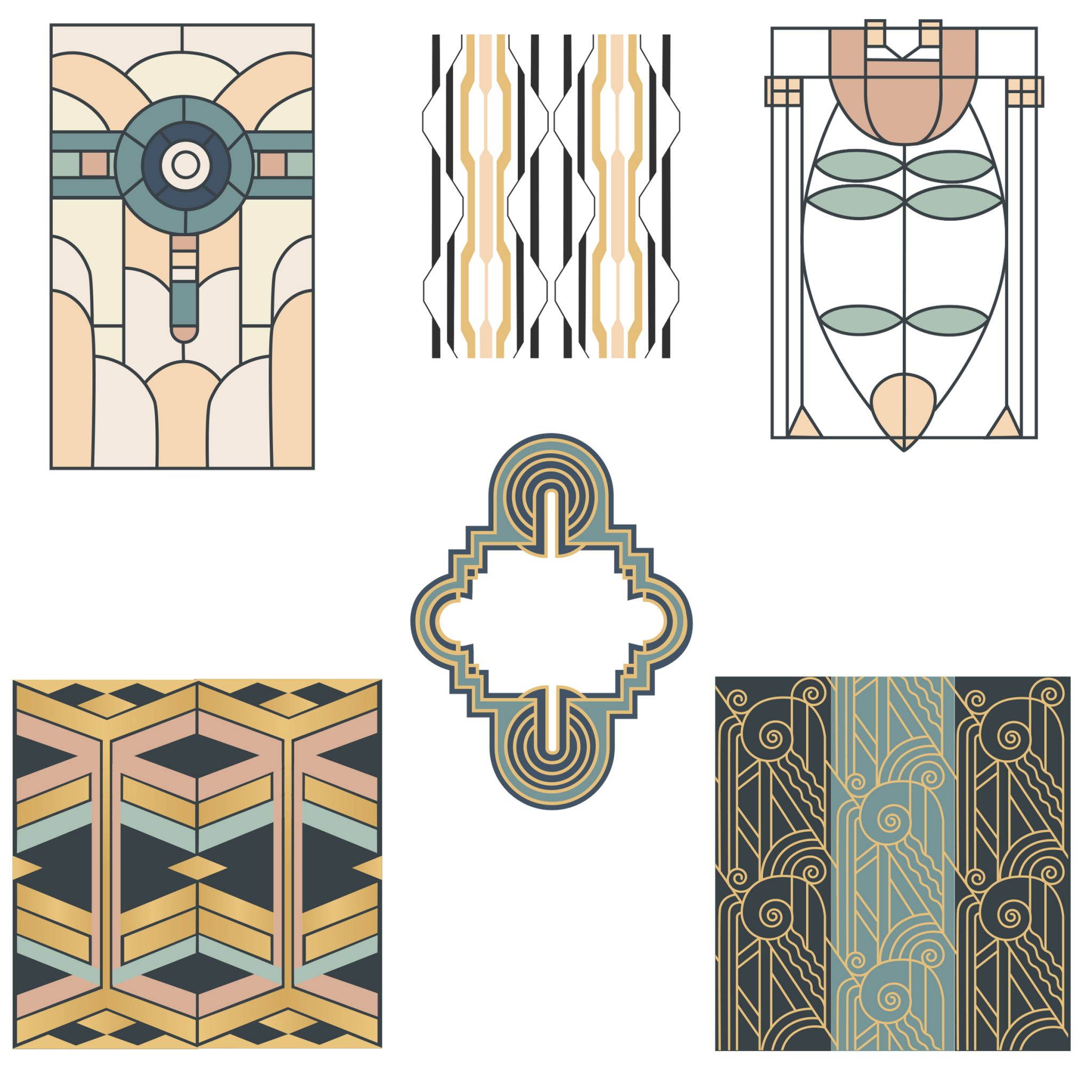 Art Deco Elements Vol 1 Mockaroon