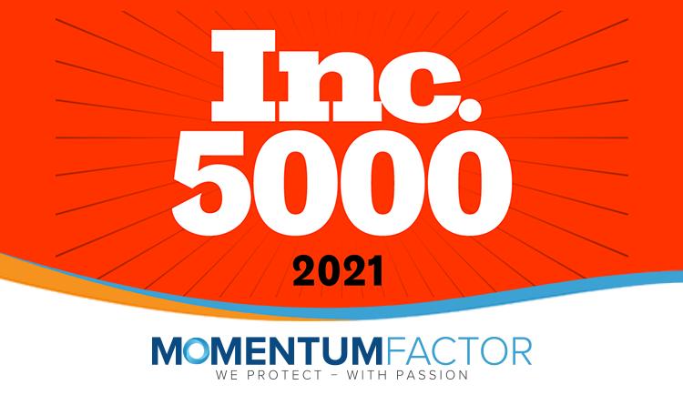Momentum Factor earns fifth consecutive Inc. 5000 Award