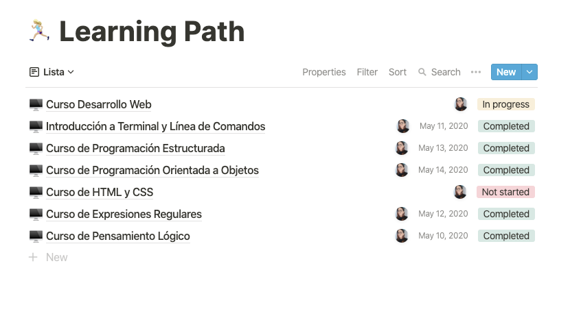 Notion Learning Path