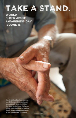 World Elder Abuse Awareness Day Poster: Take A Stand