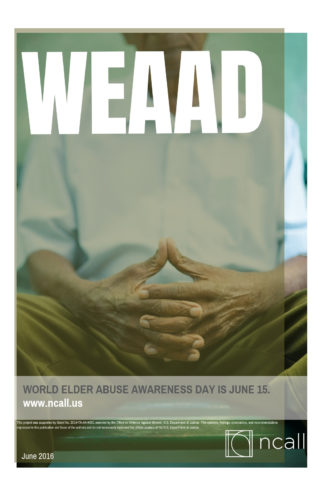 WEAAD Poster: older man with hands folded in his lap