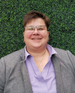 Lisa G. Furr, NCALL Program Manager: woman with short hair, glasses, smiling