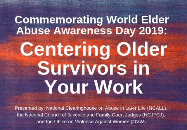 Centering Older Survivors in Your Work