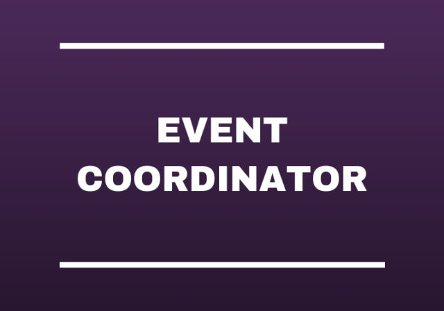 Graphic that reads: Event Coordinator