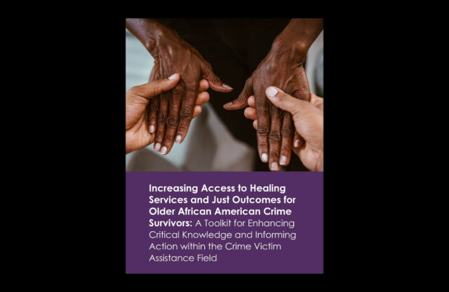 Cover of Increasing Access Toolkit featuring a pair of younger African American hands holding and supporting a pair of older African American hands.