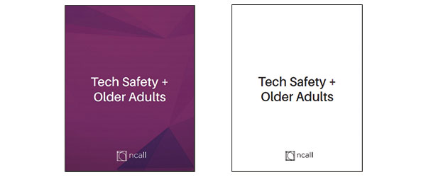 Tech Safety + Older Adults Toolkit covers