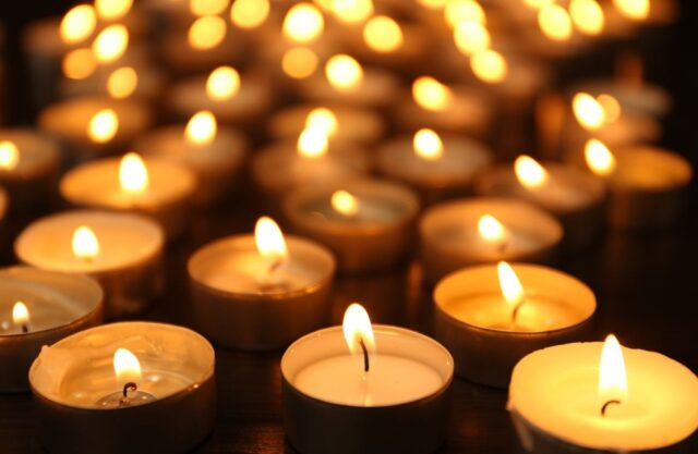 photo of candles lit