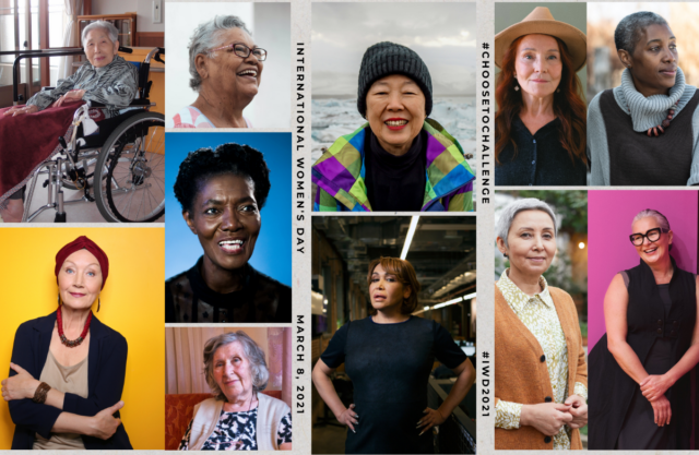 collage of older women of different ages, races, and ethnicities