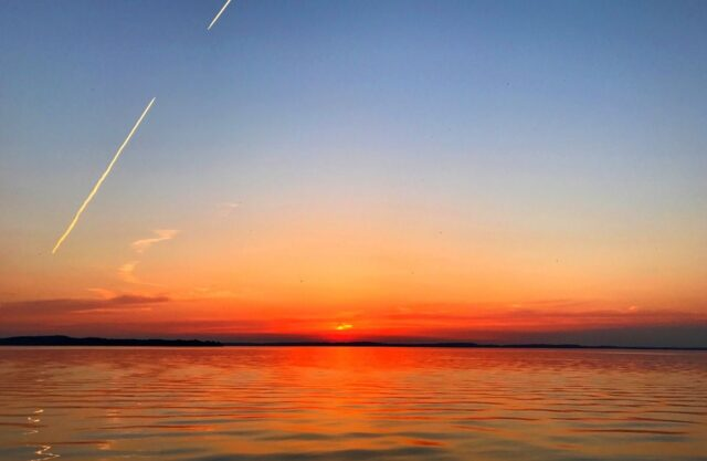 Sunset over Lake Mendota, Madison, WI.