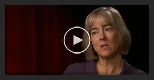 Video still of woman speaking
