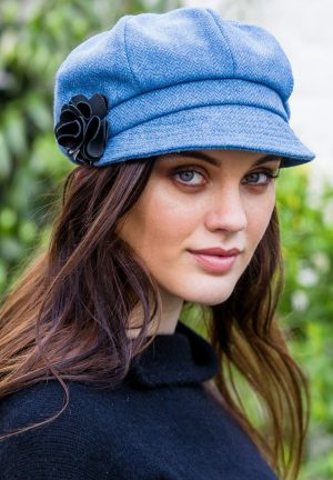 Light Blue Mucros Newsboy Cap