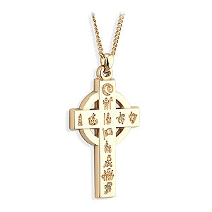 14k Gold History of Ireland Large Cross s45165
