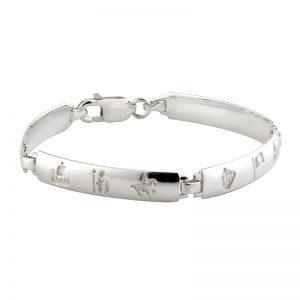 'History of Ireland Sterling Silver Bracelet S5711
