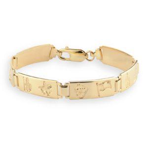 History of Ireland 14k Gold Bracelet S5333