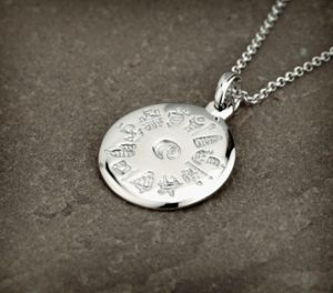History Of Ireland Sterling Silver Round Pendant