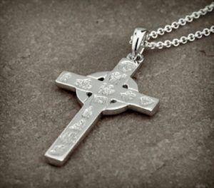 Sterling Silver History of Ireland Cross